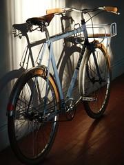 650b Singlespeed (guidedbybicycle) Tags: urban orange bicycle speed handmade rack single commuter singlespeed custom velo saddle errand nitto porteur 650b