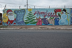 Merry Keechmas! (damonabnormal) Tags: christmas xmas philadelphia graffiti holidays tag tags tagged philly graff piece aerosol phl keech urbanphotography christmasart holidayart philadelphiagraffiti phillygraff wallbomb fujixt1