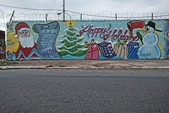 Merry Keechmas! (damonabnormal) Tags: christmas xmas philadelphia graffiti holidays tag tags tagged philly graff piece aerosol phl keech urbanphotography christmasart holidayart philadelphiagraffiti phillygraff wallbomb fujixt1