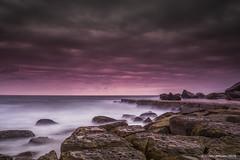 Forresters Beach (BrendanJ711) Tags: ocean sky seascape motion beach water clouds sunrise landscape rocks waves australia nsw newsouthwales swell cenralcoast forresersbeach