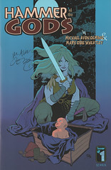 Hammer of the Gods 1 (signed by Michael Avon Oeming) (FranMoff) Tags: baby sword comicbooks cho frankcho hammerofthegods