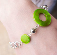 Glimpse of Malibu Green Bracelet K1 P9430-1