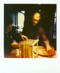 T-givs (gfbenciv) Tags: thanksgiving polaroid dad pasta 600 alana drying slr680se theimpossibleproject