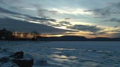 Hudson River Winter Time Lapse (ohlucky) Tags: winter sunset newyork ice timelapse video panasonic hudsonriver hudsonrivervalley westchestercounty ossining nikk