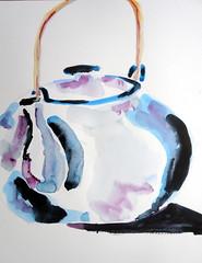 Kettle, by Carlos - DSC06476 (Dona Mincia) Tags: stilllife art watercolor painting paper arte kettle study pintura aquarela chaleira naturezamorta