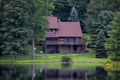 A house on the lake (thomas.hartmann496) Tags: trees brown house lake water photo backyard pennsylvania crescent
