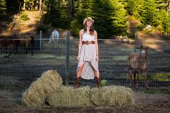 Tiana (wa2wider) Tags: horses horse woman white ontario sexy girl beautiful beauty hat coral nikon cowboy foto dress boots farm pony hay tiana nikkor stable wawa strobe trudeau strobist cowgir stupidball
