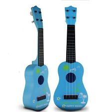 New Childrens Kids Beginners Acoustic Musical Toys Small Mini Guitar Gift BlueB-Cool