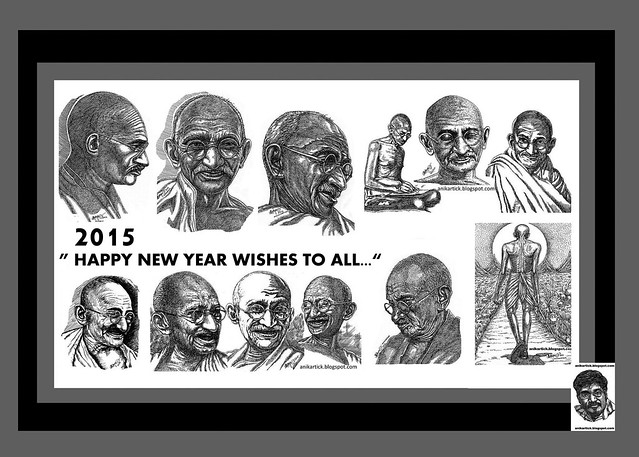 HAPPY NEW YEAR 2015  WISHES TO ALL- Artist Anikartick,Chennai, Tamil Nadu,India