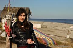 christina 8 (Kostas Gourgiotis (Cost@s)) Tags: sea sun black sexy girl leather scarf canon photoshoot cigarette christina journal smoking jeans jacket brunette bikers kostas 50mmf18ii a 60d gourgiotis