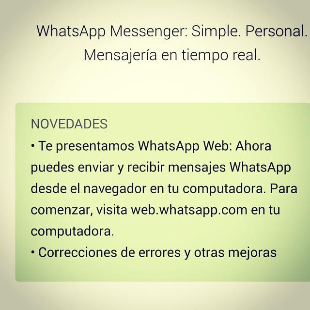 Tal y como era de esperarse. Después de la compra de #Marck. Ya tenemos #Whatsapp desde la web #Webwhatsapp 😘 para los que lo vivimos pegado al #ordenador esto si que mola (= pero ahora a esperar la respuesta del cliente!  #BuenasNoches