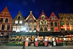 Dinner time (__sam) Tags: longexposure night square belgium main brugge may restaurent belgi