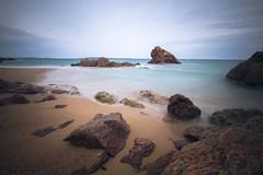 Brown & Blue (fredMin) Tags: sea france long exposure mediterranean fuji cannes rocky fujifilm 12mm samyang xt1
