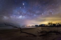 Milky Way ay Mersing (BP Chua) Tags: travel night stars landscape nikon wideangle galaxy shore malaysia mersing milkyway d3s