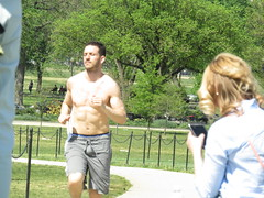 IMG_0095 (FOTOSinDC) Tags: shirtless man hot men muscle candid handsome sweaty sweat runners shorts runner joggers jogger
