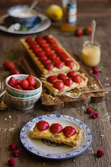 IMG_9576_exp (Helena / Rico sin Azcar) Tags: strawberry berries vanilla tart tarta fresas pastrycream vainilla cremapastelera