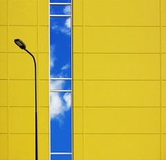 Yellow Squared Bright (Andrea Kennard) Tags: industrialfacadebuildingexteriorwarehousearchitecturestructureyelloworangewhitestripesoutdoorsfactorydoorstoragecladdingbackgroundentrancecommercialabstracttradingconstructionmetaldistributionfactorybusine