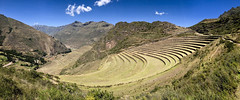 Pissac, Sacred Valley, Peru. (Gee & Kay Webb) Tags: panorama peru landscape farming terraces sacredvalley incas