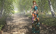 Into The Woods (Jamee Sandalwood - Miss V SWEDEN 2015) Tags: flowers summer fashion forest landscape outside outdoors photography woods 500v20f prism sl secondlife virtual pixel casual chic boho couture artphotography slfashion fashionartphotography