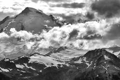 Black and White Scenery of North Cascades (jpmckenna - Northern Plains Tour Coming Up) Tags: northcascades hikingwashington washingtontrails lakeanntrail mtbakernationalrecreationarea