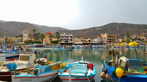 Le port d'Elounda.
