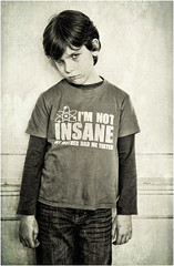 Insanity (tina777) Tags: boy house texture wales photoshop big insane child tshirt theory vale jeans elements glamorgan insanity bang sheldon owain duffryn ononesoftware