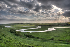 Cuckmere Haven (Malcolm Bull) Tags: park haven river downs south national valley include cuckmere 20160514cuckmere00112345tonemappededited1web