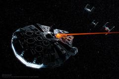 The Millennium Falcon (Avanaut) Tags: stars toy starwars lego space laser spaceship originality tiefighter ucs millenniumfalcon toyphoto smallscenesfromabiggalaxy