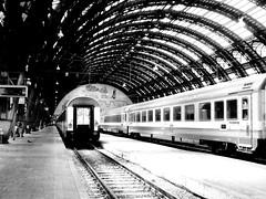 Stazione centrale (Alax66) Tags: city italy milan monocromo italia milano stazione treno ferrovia binari
