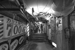 UNDER GROUND (ajpscs) Tags: street blackandwhite bw blancoynegro monochrome japan underground japanese tokyo blackwhite spring nikon outdoor streetphotography monochromatic d750  nippon  blkwht grayscale shitamachi   seasonchange  monokuro ajpscs 700