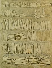 Books (2009) - Urbano (1959) (pedrosimoes7) Tags: portugal lisbon books algs urbano camb bookshelve portuguesepainter artgalleryandmuseums museucarlosmachado pintorportugus lciamarques peintreportugais centrodeartemodernamanueldebrito parqueanjos duartemanuelespritosantomelo