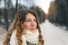 Winterland (Naetrogen) Tags: winter cold sunset travelling europe girl woman beautiful portrait outdoor sunshine eyes cute nature