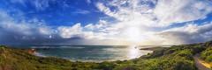 Point Peron Beach (Astronomy*Domine) Tags: ocean sunset seascape color beach clouds canon indian perth nik westernaustralia rockingham 14mm samyang efex