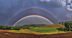 IMG_8981-83Ptzl1scTLGE2 (ultravivid imaging) Tags: ultravividimaging ultra vivid imaging ultravivid colorful canon canon5dmk2 clouds stormclouds rural scenic fields farm rainyday rainbow scenicsnotjustlandscapes