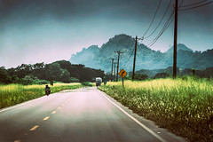 On The Road (Atmospherics) Tags: ontheroad guayaquil atmospherics mountainscape landscape ecuador roadtrip analog filmtones