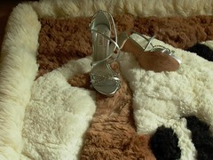 Alpaca Rug Trample: Dirty Stiletto High Heel Shoes (Uggling) Tags: feet alpaca animal fur boot shoes highheel highheels boots sandals platform dirty heels rug heel stiletto sole stilettos animalskin furrug animalrug furryrug animalskinrug skinrug softrug alpacarug