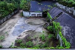 Overlooking the Main Barracks (catlydy) Tags: abandoned japan ruins gloomy military wwii okunoshima