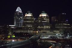 Cincinnati Nighttime 2016-2 (michaelramsdell1967) Tags: lighting street city light ohio urban building colors architecture night dark lights cityscape metro cincinnati nighttime