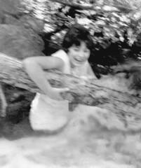 Stream enjoyment, 1963 (clarkfred33) Tags: water stream spirit rapids enjoy vintagecamera 17 wade splash teenage 1963 vintagephoto wetlook wetfun drench wetcamera teenfun wetadventure