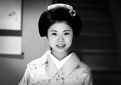Portrait of a 16 years old maiko called chikasaya, Kansai region, Kyoto, Japan (Eric Lafforgue) Tags: portrait blackandwhite woman white beautiful beauty face japan horizontal closeup female hair asian japanese clothing eyes kyoto asia pretty feminine painted young culture makeup front grace indoors teen maiko geisha teenager kimono gion grainy tradition oriental youngadult solitary hairstyle youngwoman apprentice oneperson elaborate kanzashi lookingatcamera 1617years oneyoungwomanonly 1people japaneseethnicity chikasaya japan161907 komayaokiya