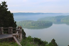 Hawn's overlook (daveynin) Tags: sky mountain lake hills hazy overlook