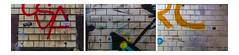 da bricks (Rasande Tyskar) Tags: city urban colour art texture wall graffiti three paint pattern wand kunst bricks hamburg structure graffity collection steine textures sample mur bunt fassade drei sd bemalt texturen