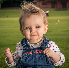 It's in her smile (Wayne Cappleman (Haywain Photography)) Tags: park portrait baby playing photography george king wayne hampshire fields farnborough fifth haywain cappleman