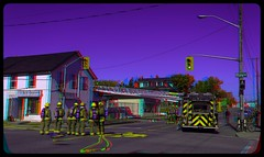 Thunder Bay Firefighters 3-D ::: HDR/Raw Anaglyph Stereoscopy (Stereotron) Tags: north america canada province ontario thunderbay canadasgatewaytothewest tbay lakehead thelakehead downtown september firefighters crossing autumn fall firedepartment streetphotography urban citylife anaglyph anaglyph3d redcyan redgreen optimized anaglyphic anabuilder 3d 3dphoto 3dstereo 3rddimension spatial stereo stereo3d stereophoto stereophotography stereoscopic stereoscopy stereotron threedimensional stereoview stereophotomaker stereophotograph 3dpicture 3dglasses 3dimage twin canon eos 550d yongnuo radio transmitter remote control synchron in synch kitlens 1855mm tonemapping hdr hdri raw cr2