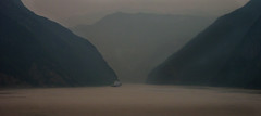 Gorges through the smog (Jamie B Ernstein) Tags: river smog china asia yangtze boat mountains gorge valley threegorges dramatic panorama nikon