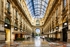 in the heart of Milan, Italy (beatricepreve) Tags: old travel roof light italy milan building art window monument glass beautiful fashion architecture mall shopping gold store construction italian ancient europe gallery european artistic antique walk interior milano famous arcade decoration culture landmark structure ceiling cupola dome vault transparent luxury luminous galleria lattice airy vittorioemanuele