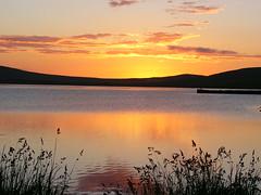 Kirbister sunset (stuartcroy) Tags: orkney island scotland scenery sky sea still sony sand colour clouds beautiful blue bay beach kirbister loch