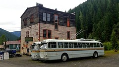 Trolley bus graveyard (SqueakyMarmot) Tags: travel canada britishcolumbia roadtrip kootenays sandon ghosttown bctransit brillbuses trolleybuses decay graveyard