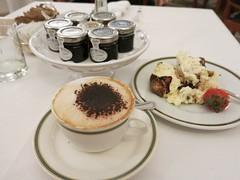 Wednesday Colours - Breakfast (Pushapoze) Tags: italia italy puglia pouilles lecce coffee cafe cappuccino tiramisu preserves