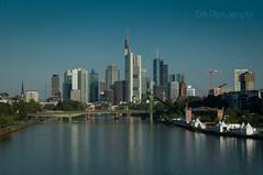 Good Morning Frankfurt (dominidomk) Tags: frankfurt skyline hochhuser morgen fluss river skyscaper banken bridge morning main